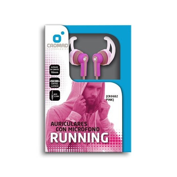 Auricular + Micrófono RUNNING Color Rosa CROMAD