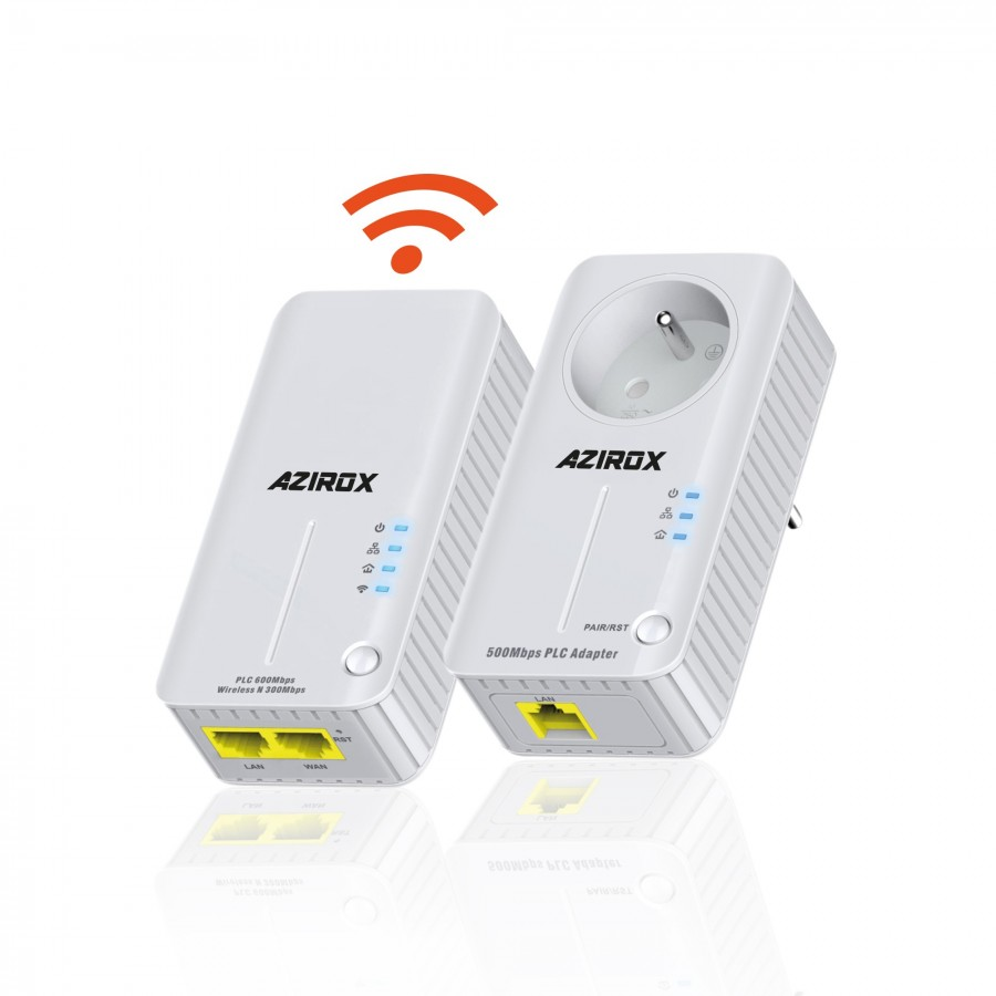 Kit PLC Azirox WiFi MW-PL500W 500Mbps