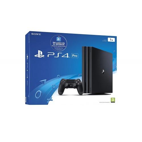 Consola PS4 PRO 1TB + 10€ Voucher Jet Black