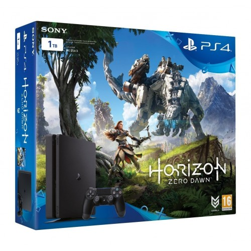 Consola Ps4 1TB Slim Black + Horizon