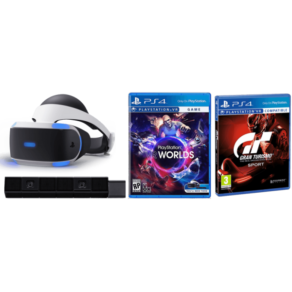 PS VR Camara + VR World + VR GT Sport